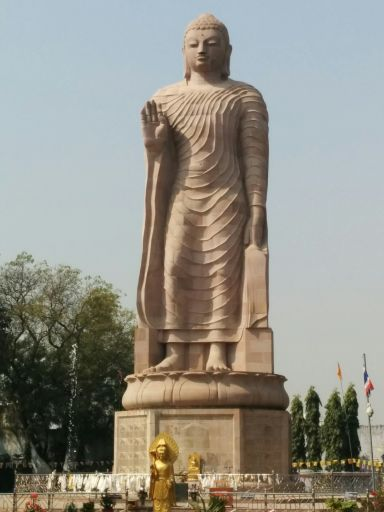 Standing Buddha Sarnath 13 kms 40 mts 650 pieces of stone